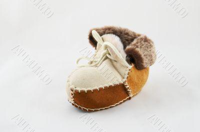 Fur souvenir small boots