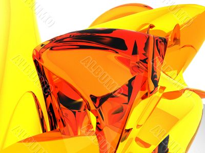 Amber Mountain Abstract