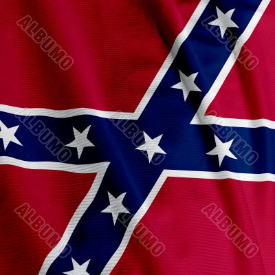 Confederate Flag Closeup