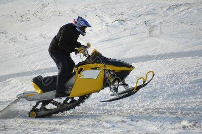 Jumping snow rider