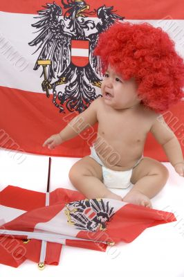 Baby as an Austria-Fan