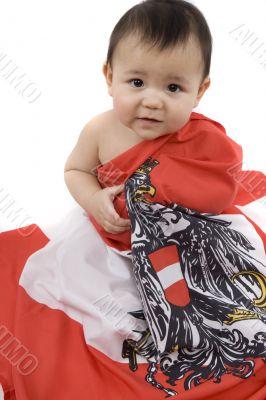 Baby as an Austria-Fan