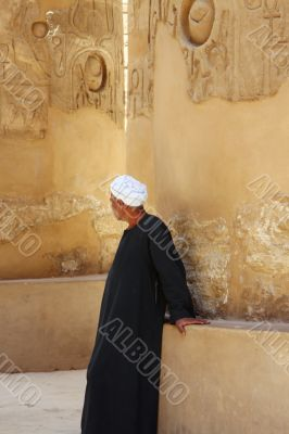 Luxor temple with Arab