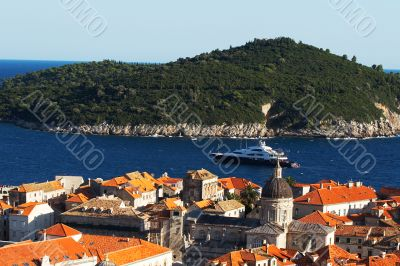 View of the downtown section of Dubrovnik, Croatia