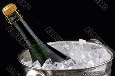 Iced champagne