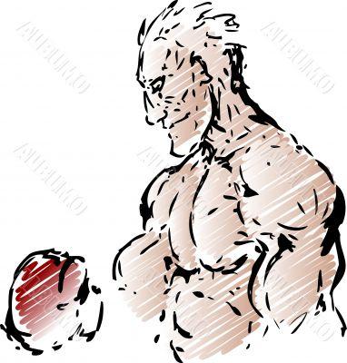 Boxer sketch