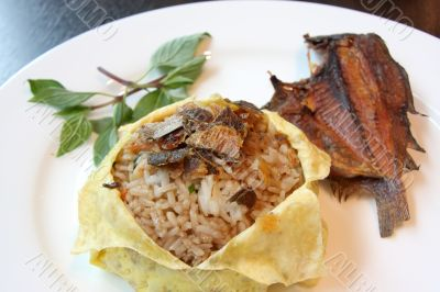 Thai fish rice