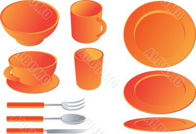 Dining set illustration