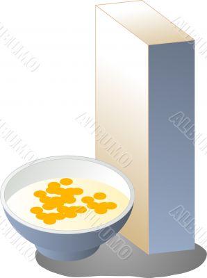 Breakfast cereal illustration