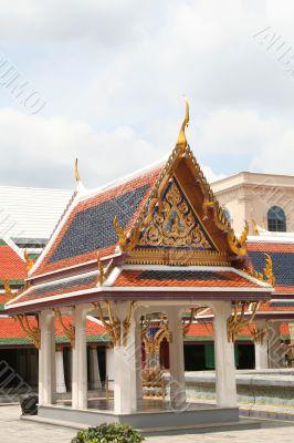 Thai temple courtyard