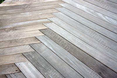 Outdoor parquet pattern