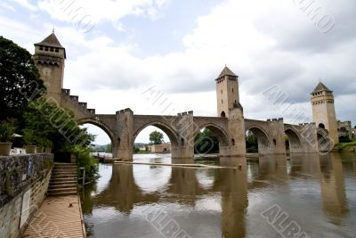 Bridge Valetre in Cahors town, France - 3