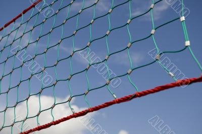 Net for volleyball or badminton