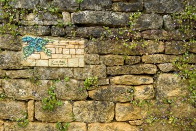 Old wall with the name of street