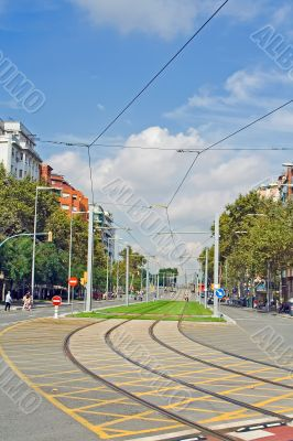 catenary curve in the city