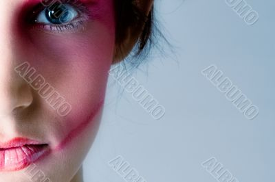 Pretty brunette with extreme make-up