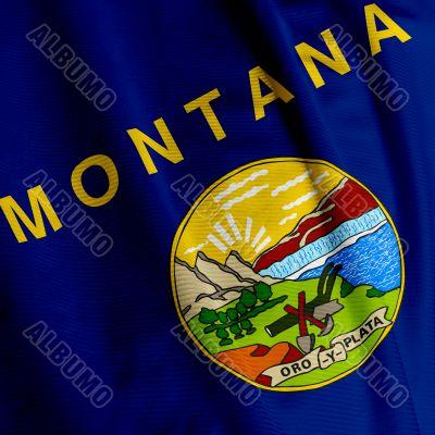 Montana Flag Closeup