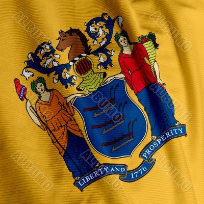 New Jersey Flag Closeup