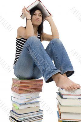 Girls read book