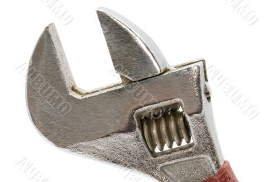 adjustable wrench close up