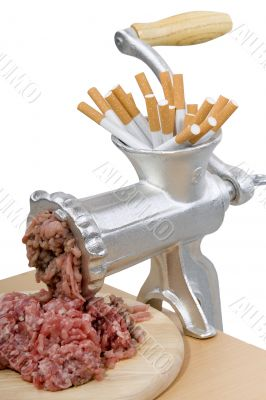 mincing machine to quit smoking