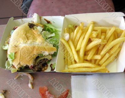 Leftover take away meal