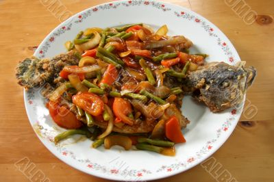 Chinese fried fish