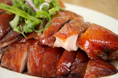 Roast duck slices