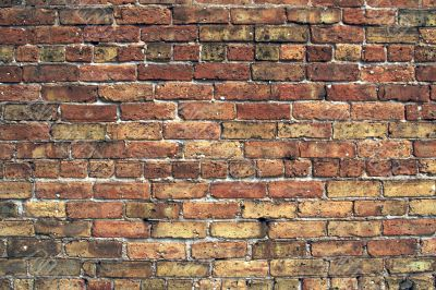 Abstract of old brick wall