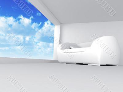 sofa in light tones