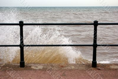 Wave on a barrier