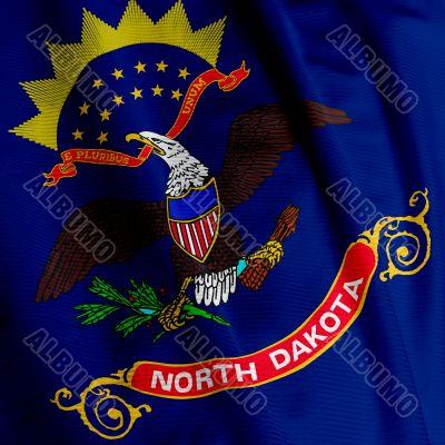North Dakota Flag Closeup
