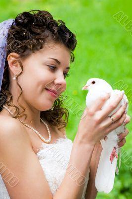 Bride with dove