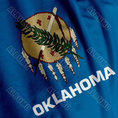 Oklahoma Flag Closeup