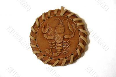 Medallion from a bark of an oak. CANCER.