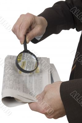 Magnifying glass as a reading aid