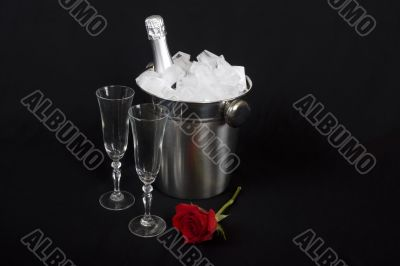 Iced champagne with Rose