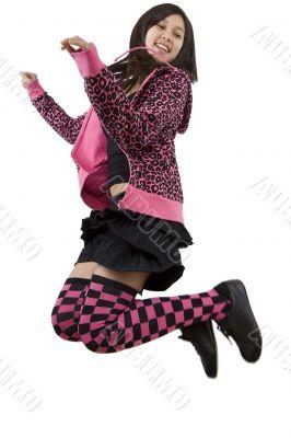 Teenager jumps