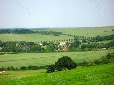 english countryside and summer sky
