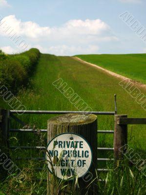 private no public right of way