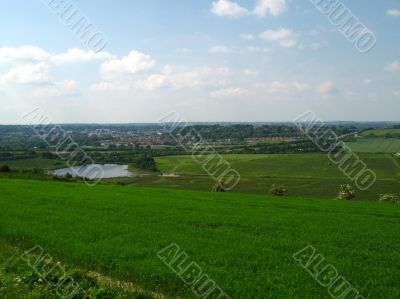A view over hampshire countryside