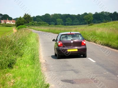 car and country road