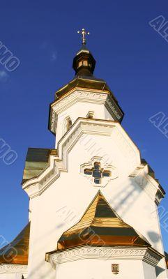 Small church on Dniepr river
