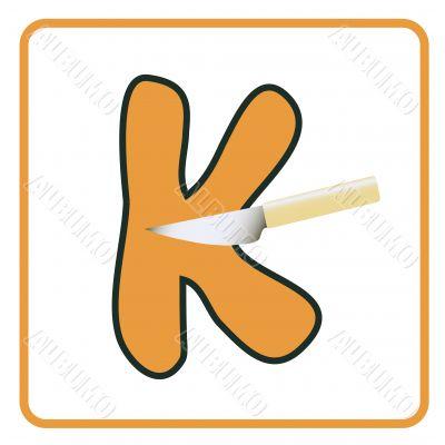 alphabet for children education (K)