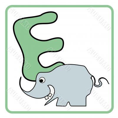 alphabet for children education (E)