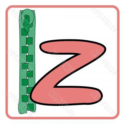 alphabet for children education (z)