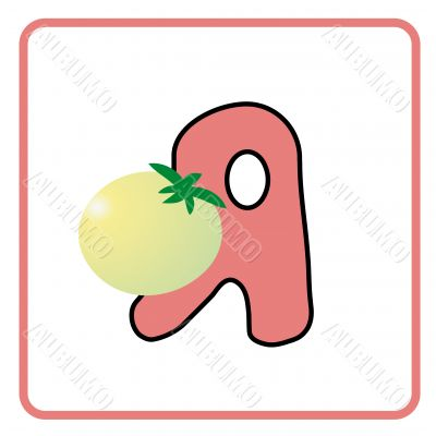 alphabet for children education (A)