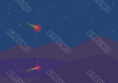 falling meteor