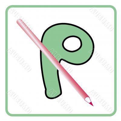 alphabet for children education (P)