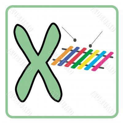 alphabet for children education (x)